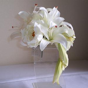 かせブランかとホワイトローズの結婚式髪飾り
