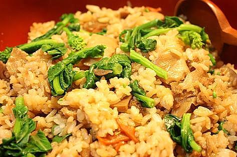 タケノコと菜の花のご飯♪