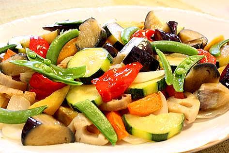 野菜の素揚げだし♪