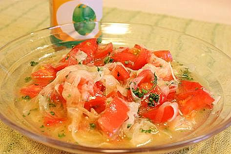 トマトの甘いサラダ♪