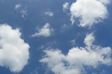 青い空と白い雲♪