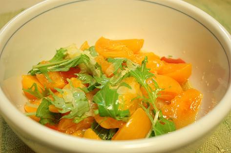 トマトと水菜の甘いサラダ♪