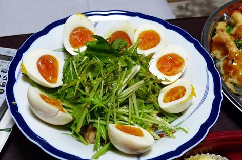 燻製卵と鶏♪