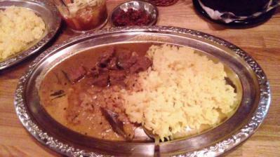 カルータラ20120529日替わりビーフと豆カレー