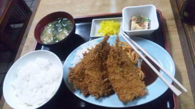 居酒屋清水いわしフライ定食490円20120612