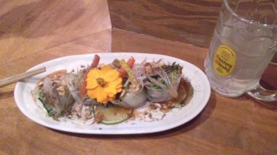きんぎょ20121102生春巻きサラダ