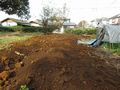 土を被せる
