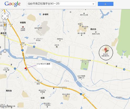 仙台北自動車学校地図