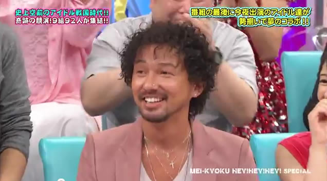 ISSAの髪がフサフサに 2011年 HEY!HEY!HEY! 元気が湧いてくる! アイドルの祭典スペシャル!!