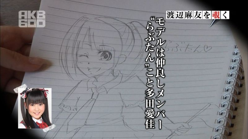 AKB48 渡辺麻友の描いた絵 イラスト