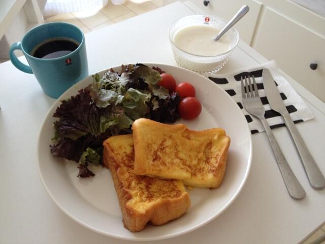 牧野結美の朝食
