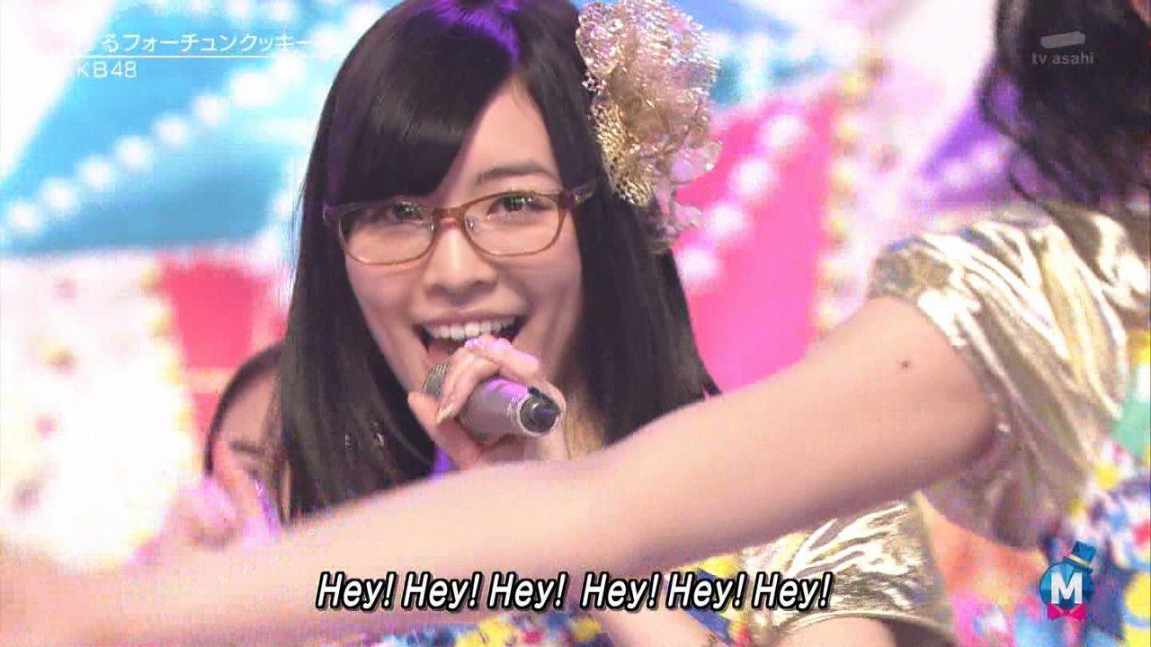 松井珠理奈、ミュージックステーションスーパーライブ2013に眼鏡で出演