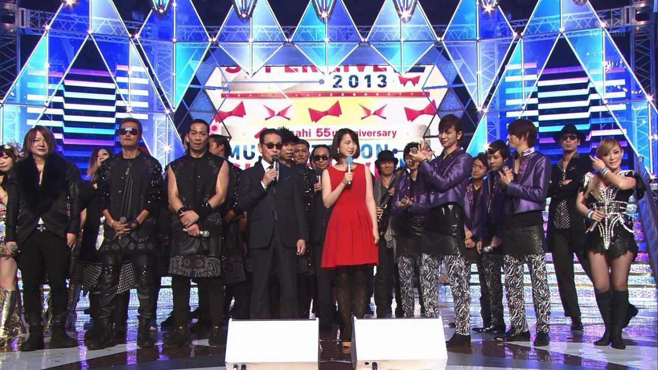 ミュージックステーションスーパーライブ2013に出演したGLAY TERUと浜崎あゆみ 太った体型が酷い