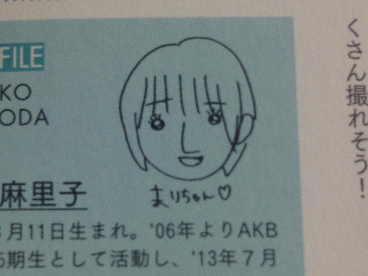 小嶋陽菜の描いた篠田麻里子