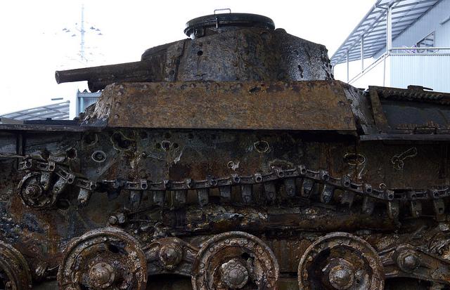 ⑰サイパンで破壊された戦車
