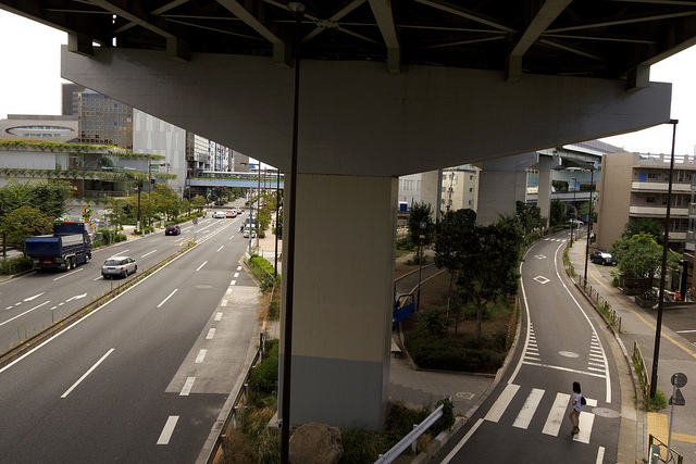 ⑧新二子橋は環八近くまで続く