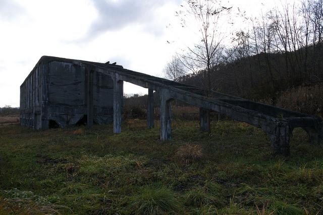 ②旧北炭赤間炭鉱選炭工場