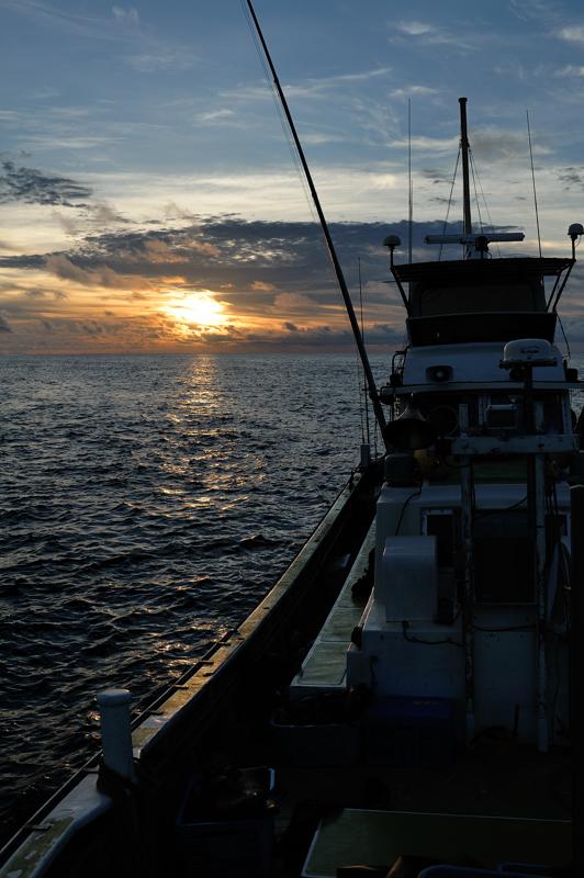 須美寿島での夕陽
