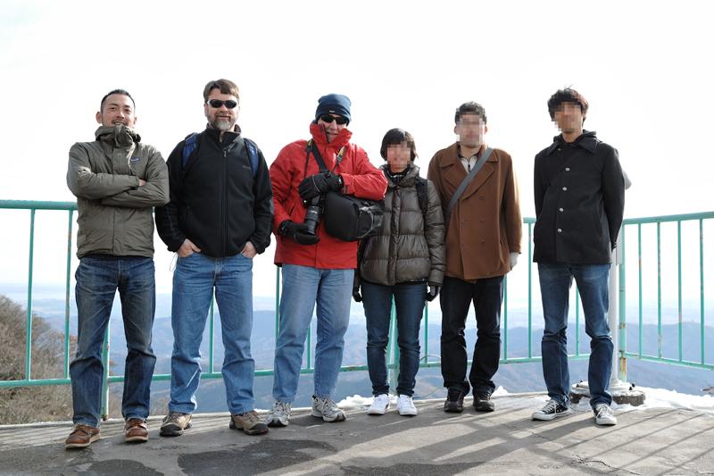 筑波山での記念撮影
