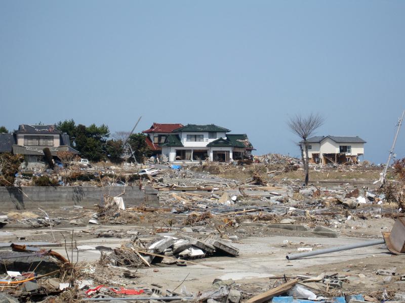 富岡町・津波の後