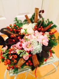 2014.12.3クリスマスお花1