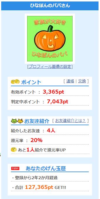 げん玉収入(1)