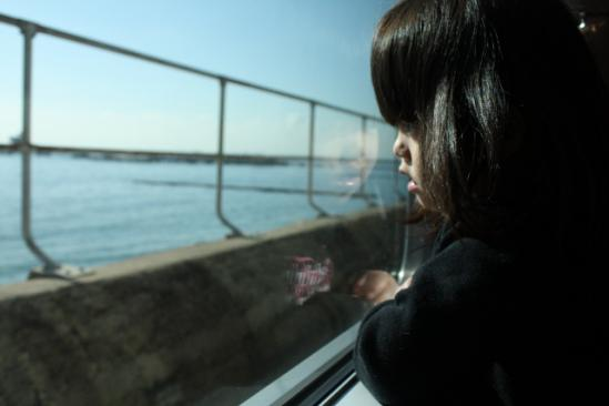 海沿いの線路