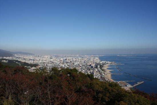 神戸の街並み 神戸側