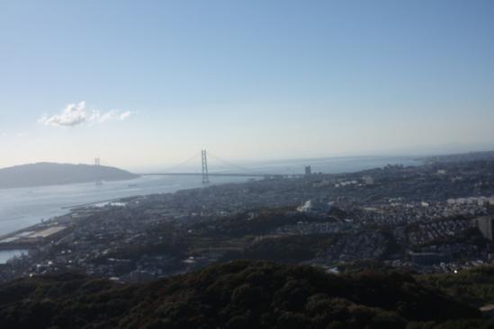 神戸の風景 明石海峡大橋側