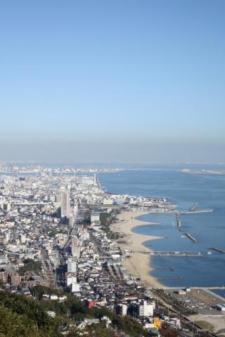 神戸の街並み タテ