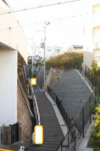 須磨駅のホームから