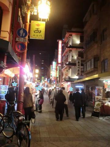 南京町 夜の風景
