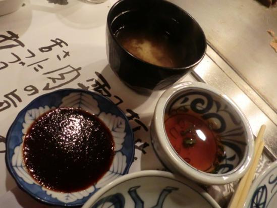 神戸牛 ポン酢とニンニクだれ