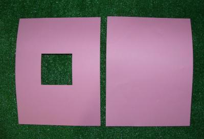 ピンク屋根紙
