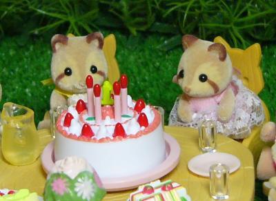 アライグマ双子ちゃんケーキ