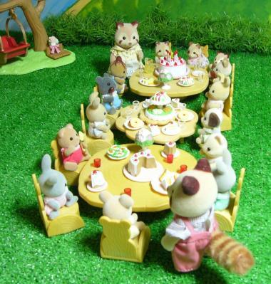 アライグマ双子ちゃんパーティー
