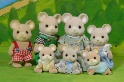 ネズミ(白耳)ファミリー
