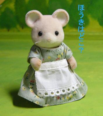 ネズミ(白耳)お母さん