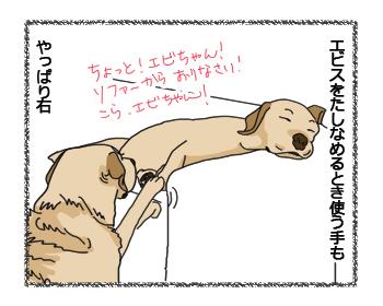 羊の国のラブラドール絵日記シニア!!犬4コマ漫画「ズバリ!・・・?」3