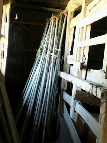 2012年9月27日稲乾燥用竿