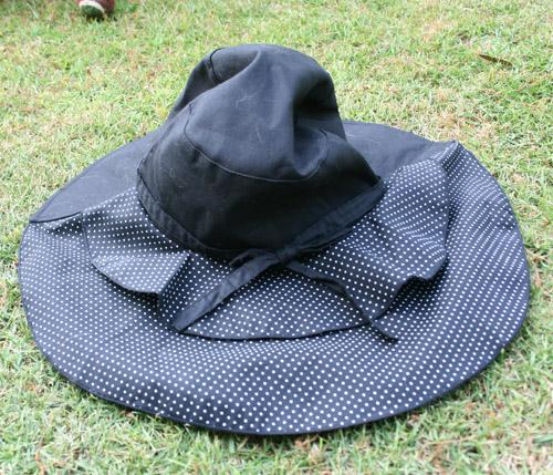 買ってもらった帽子