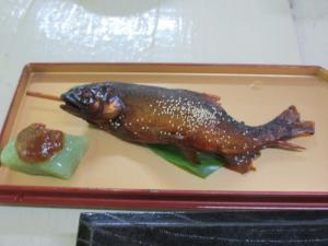 2012 8月鮎料理「渓流荘」 041