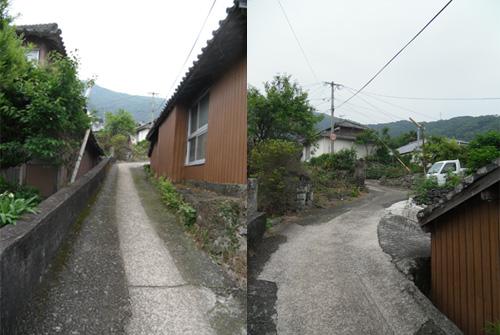 旧家の並ぶ細道2