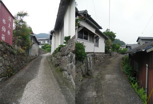 旧家の並ぶ細道3