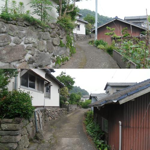 旧家の並ぶ細道4
