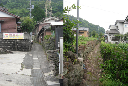 旧家の並ぶ細道5