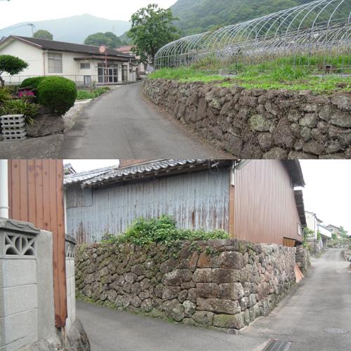 旧家の並ぶ細道6