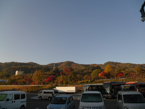 長野のどこかのパーキング。