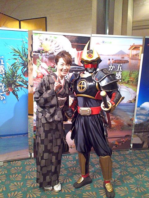 若女将と薩摩剣士隼人