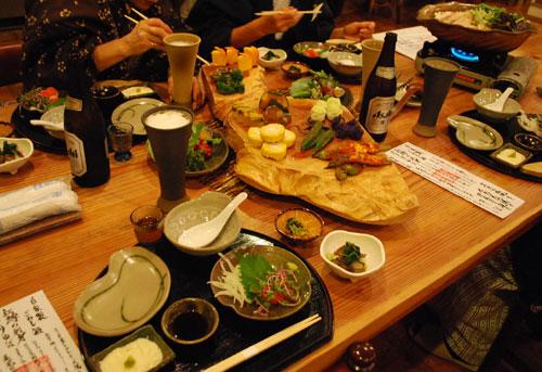 渋辰野館の食事